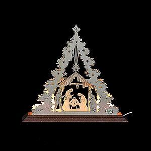 World of Light Light Triangles Light Triangle - Nativity Scene - 23x20x4 cm / 9x8x1,5 inch