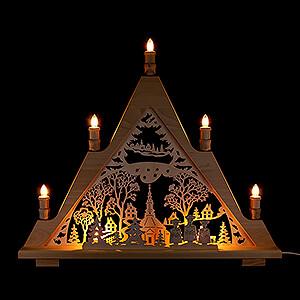 World of Light Light Triangles Light Triangle - Seiffen Church - 60x48 cm / 23.6x18.9 inch