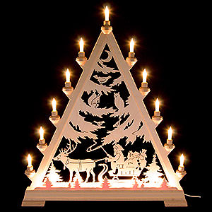 World of Light Light Triangles Light Triangle - St. Nick with Sleigh - 66 cm / 26 inch