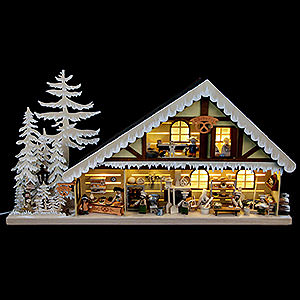 World of Light Lighted Houses Lighted House Bakery with White Frost - 70x38 cm / 28x15 inch