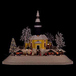 World of Light Lighted Houses Lighted House Christmas Market, LED - 26 cm / 10.2 inch