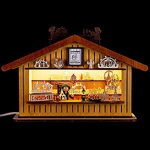 World of Light Lighted Houses Lighted House - Christmas Market Stall - 20 cm / 7.9 inch