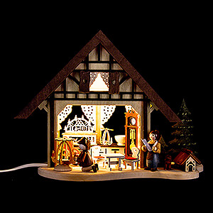 World of Light Lighted Houses Lighted House - Christmas Parlor - 17 cm / 6.7 inch