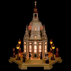 World of Light Lighted Houses Lighted House Church of Our Lady Dresden 230 V - 24x21x28 cm / 9.4x8.3x11 inch
