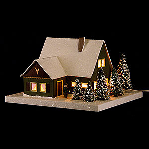 World of Light Lighted Houses Lighted House Forester's Lodge - 11,5 cm / 4.5 inch