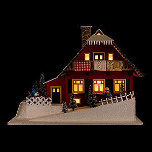 World of Light Lighted Houses Lighted House Mountainside House - 29,5 cm / 11.6 inch