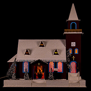 World of Light Lighted Houses Lighted House Old Church - 43 cm / 16.9 inch