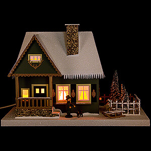 World of Light Lighted Houses Lighted House Old Forester's Lodge - 25 cm / 9.8 inch