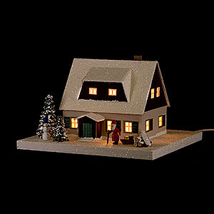 World of Light Lighted Houses Lighted House Ore Mountains Home with Lobby - 11,5 cm / 4.5 inch