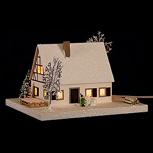World of Light Lighted Houses Lighted House Timber-Framed Ore Mountains Home - 11,5 cm / 4.5 inch