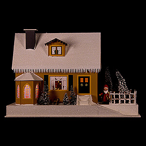 World of Light Lighted Houses Lighted House with Christmas Parlor - 27 cm / 10.6 inch
