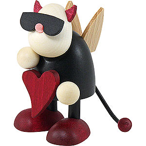 Small Figures & Ornaments Gustav (Hobler) Little Devil Gustav Standing with Heart - 7 cm / 2.8 inch