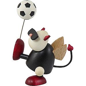 Small Figures & Ornaments Gustav (Hobler) Little Devil Gustav with Football - 7 cm / 2.8 inch