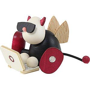 Small Figures & Ornaments Gustav (Hobler) Little Devil Gustav with Laptop - 7 cm / 2.8 inch