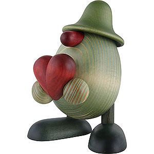 Small Figures & Ornaments Björn Köhler Little Green Men Little Green Man with Heart - 11 cm / 4.3 inch