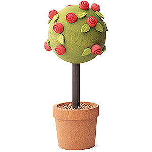 Angels Reichel decoration Little Rose Tree, Red - 7,5 cm / 3 inch