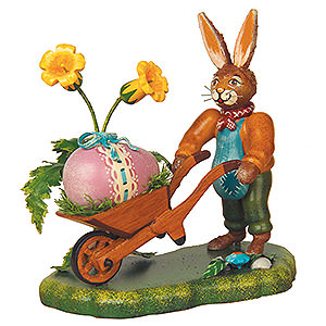 Small Figures & Ornaments Animals Rabbits Long Eared Most Beautiful Easter Egg - 10 cm / 4 inch