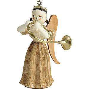Angels Long Pleated Skirt Angels (Blank) Long Pleated Skirt Angel with Alto Horn, Natural - 6,6 cm / 2.6 inch