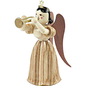 Angels Long Pleated Skirt Angels (Blank) Long Pleated Skirt Angel with Trumpet, Natural - 6,6 cm / 2.6 inch