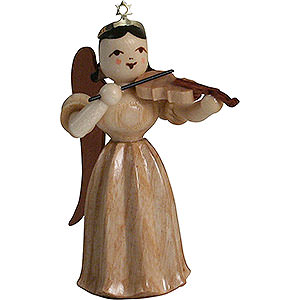 Angels Long Pleated Skirt Angels (Blank) Long Pleated Skirt Angel with Violin, Natural - 6,6 cm / 2.6 inch