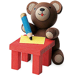 Gift Ideas Back to School Lucky Bear Writing - 3 cm / 1.2 inch