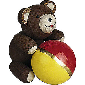 Small Figures & Ornaments Reichel Lucky Bears Lucky Bear with Ball - 2,7 cm / 1.1 inch