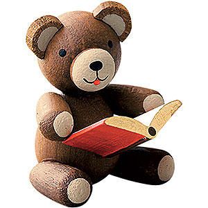 Gift Ideas Back to School Lucky Bear with Book - 2,7 cm / 1.1 inch