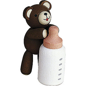 Small Figures & Ornaments Reichel Lucky Bears Lucky Bear with Bottle - 3,5 cm / 1.4 inch
