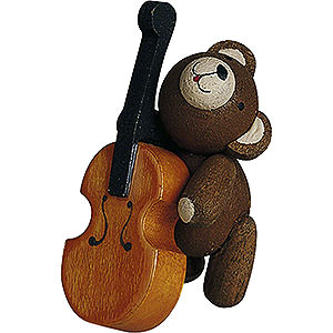 Small Figures & Ornaments Reichel Lucky Bears Lucky Bear with Cello - 4 cm / 1.6 inch
