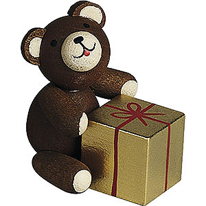 Gift Ideas Birthday Lucky Bear with Gift - 2,7 cm / 1.1 inch