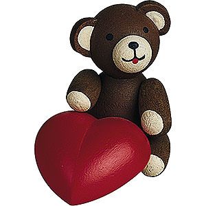 Gift Ideas Mother's Day Lucky Bear with Heart - 2,7 cm / 1.1 inch