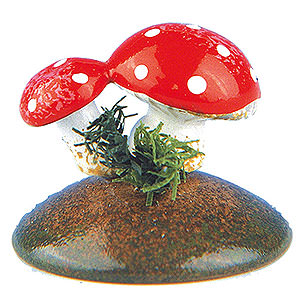 Small Figures & Ornaments Hubrig Flower Kids Lucky Mushrooms - Set of Six - 2 cm / 0,75 inch