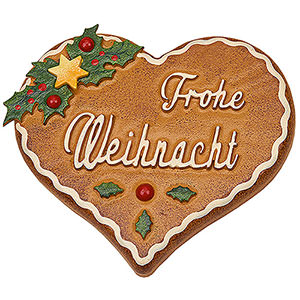 Gift Ideas Heartfelt Wish Magnetic Pin - Gingerbread Heart - 7 cm / 2.8 inch