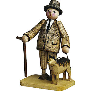 Small Figures & Ornaments Günter Reichel Born Country Man with Dog - 7 cm / 2.8 inch