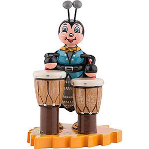 Kleine Figuren & Miniaturen Hubrig Käfer Marienkäfer mit Bongo - 8 cm