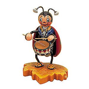 Kleine Figuren & Miniaturen Tiere Käfer Marienkäfer mit Trommel - 8 cm