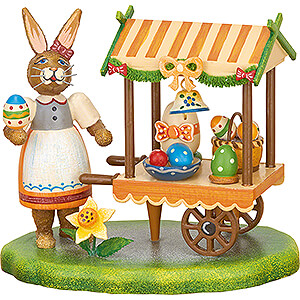 Small Figures & Ornaments Hubrig Rabbits Country Market Stall Easter - 9 cm / 3.5 inch
