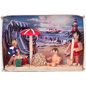 Small Figures & Ornaments Matchboxes Matchbox - Beach Holidays - 4 cm / 1.6 inch