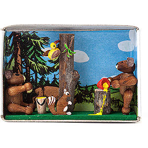 Small Figures & Ornaments Matchboxes Matchbox - Bear Cubs - 4 cm / 1.6 inch