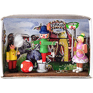 Small Figures & Ornaments Matchboxes Matchbox - Circus - 4 cm / 1.6 inch