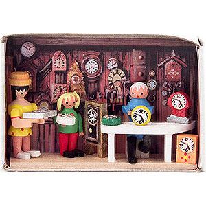 Small Figures & Ornaments Matchboxes Matchbox - Clockmaker - 4 cm / 1.6 inch