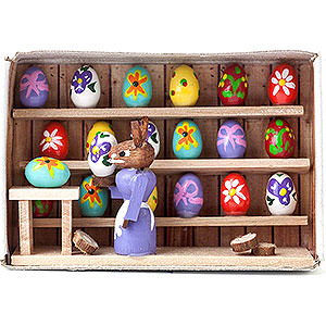 Small Figures & Ornaments Matchboxes Matchbox - Easter Egg Exhibition - 4 cm / 1.6 inch