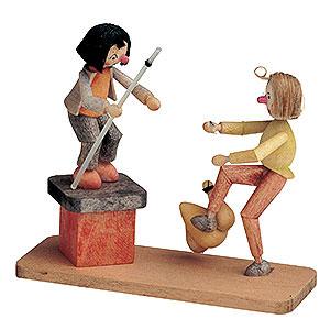 Kleine Figuren & Miniaturen Märchenfiguren Wilhelm Busch (KWO) Max und Moritz mit Hähnchen - 8 cm