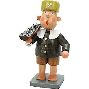 Small Figures & Ornaments Bengelchen (Ulbricht) Miners Miner Bengelchen with Car - 6,5 cm / 3 inch