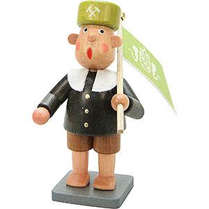 Small Figures & Ornaments Bengelchen (Ulbricht) Miners Miner Bengelchen with Flag - 6,5 cm / 3 inch
