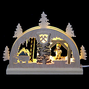 Candle Arches Fret Saw Work Mini Candle Arch - Mining - 23x15x4,5 cm / 9x6x2 inch