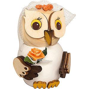 Geschenkideen Hochzeit Mini-Eule Braut - 7 cm