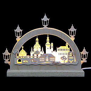 Candle Arches Fret Saw Work Mini LED Lightarch - Dresden - 23x15x4,5 cm / 9x6x2 inch