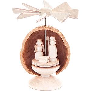 Weihnachtspyramiden Alle Pyramiden Mini-Nusswärmespiel mit Christi Geburt - 5,5 cm