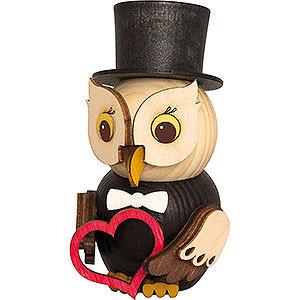 Gift Ideas Wedding Mini Owl Bridegroom - 7 cm / 2.8 inch